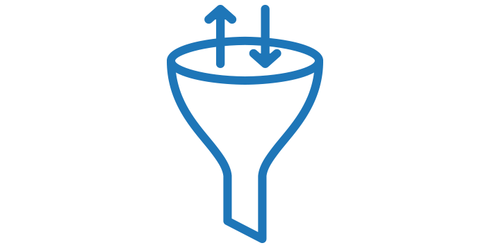 conversion funnel optimization icon